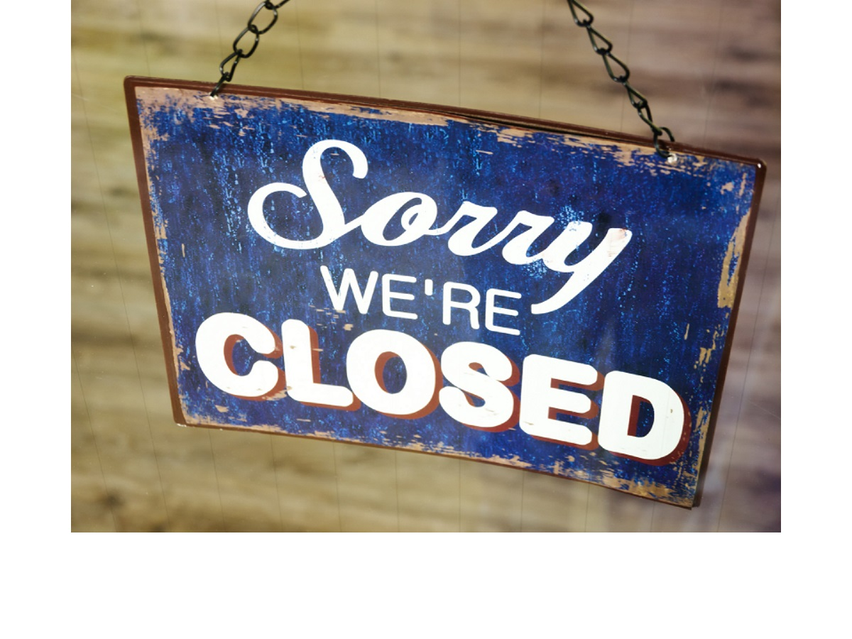 We are closed till march 31th